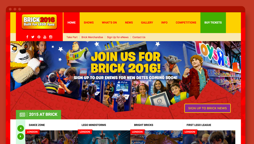 Brick Shows - Website